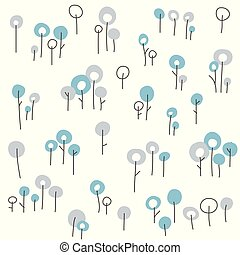 Winter seamless floral pattern