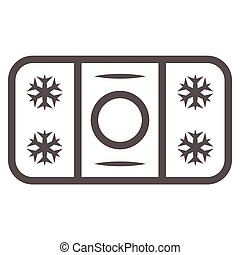 Winter skating rink line icon, World snow day concept, ice hockey field sign on white background, hockey rink icon in outline style for mobile concept and web design. Vector graphics.