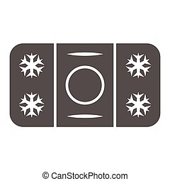 Winter skating rink solid icon, World snow day concept, ice hockey field sign on white background, hockey rink icon in glyph style for mobile concept and web design. Vector graphics.