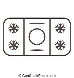 Winter skating rink thin line icon, World snow day concept, ice hockey field sign on white background, hockey rink icon in outline style for mobile concept and web design. Vector graphics.