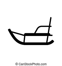Winter sled vector glyph icon. Winter sign