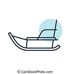 Winter sled vector icon. Winter sign