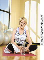 Woman at gym.