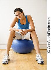 Woman at gym portrait