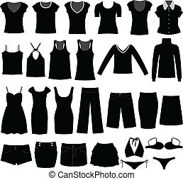 A big set of women clothing and dress. Very suitable for business and casual wear.