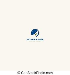 woman power logo around the world
