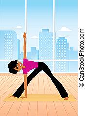 Woman practicing Yoga Posture