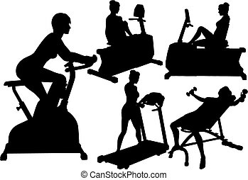 Women gym fitness exercise workouts