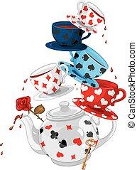 Wonderland Mad Tea Party Pyramid