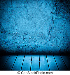 wood floor and concrete wall textured background