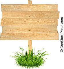 Wooden Board, Vector Illustration