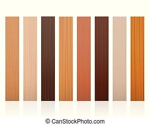 Wooden Slats Different Colors Textures