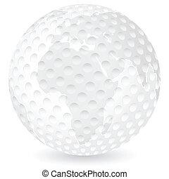 world map golf ball
