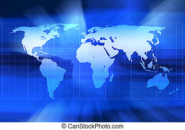 Graphic representation of world map
