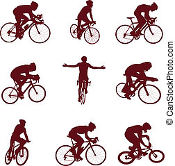 ?ycling silhouettes