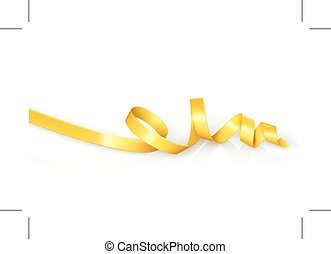 Yellow curled ribbon