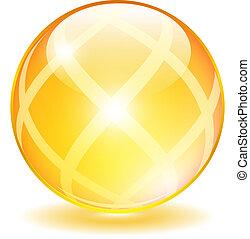 Yellow glass ball