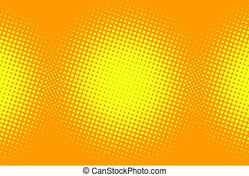 yellow pop art background. Comic cartoon style illustration