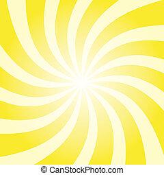 Yellow Sun Burst
