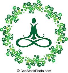 Yoga flowers icon
