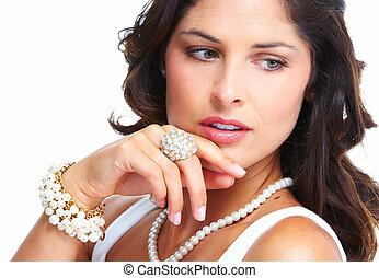 Young beautiful woman portrait.