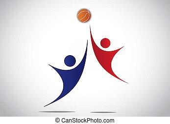 young players playing basketball