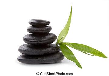 Zen pebbles. Stone spa care concept.