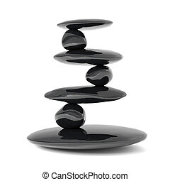 Zen stones balance concept isolated on white